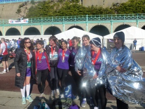 Some of our Brighton Half Marathon crew last year