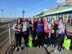 Fitbitch Crew at Brighton Half Marathon