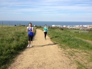 Trail running and sea views.